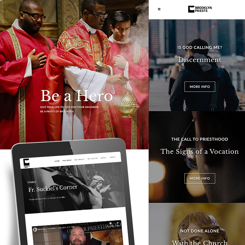 Page about Brooklyn Priests,with 3 Priests, a web page for brooklyn priests, coices for more info.