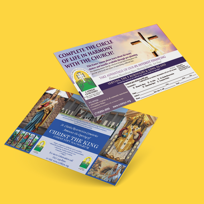Catholic Cemeteries ad card