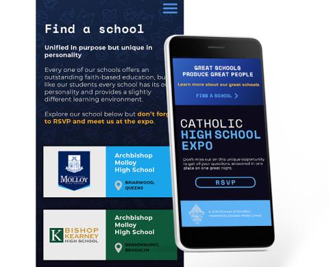 screenshots of high school site