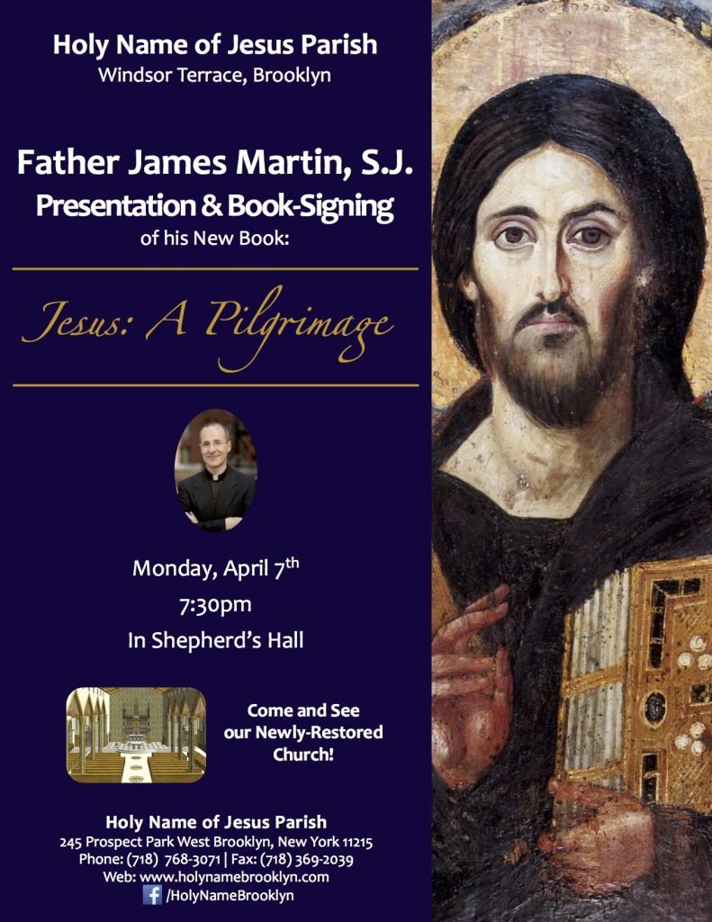 flyer for James Martin speaking appearance