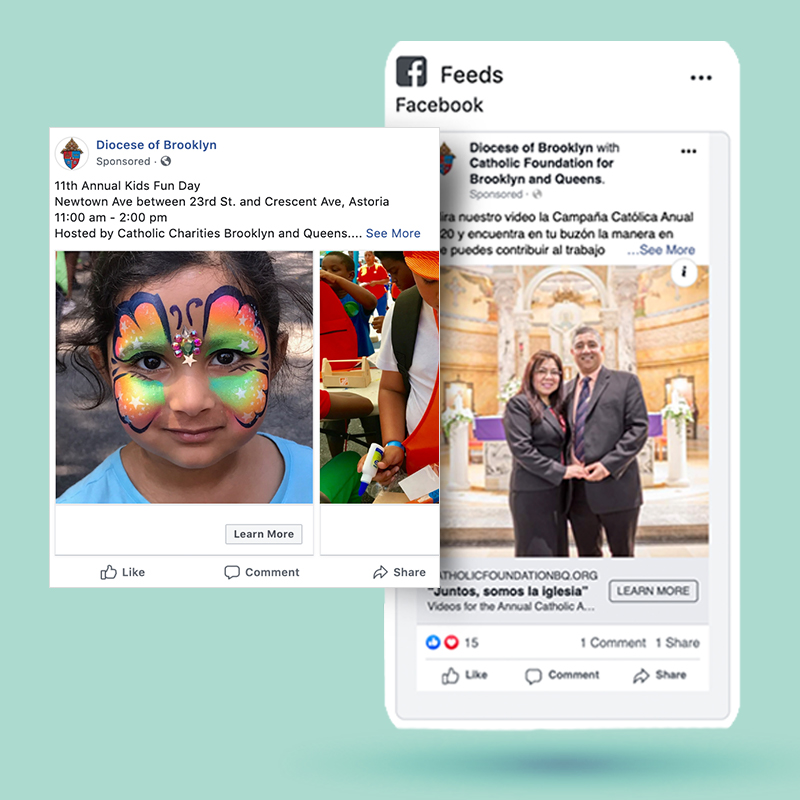 Diocese for Brooklyn Social Media examples