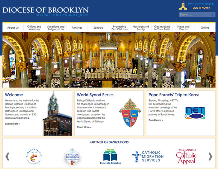 Diocese of Brooklyn web page