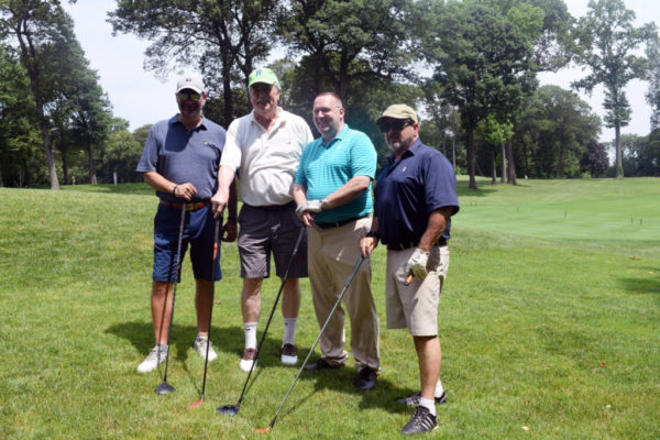 foursome at 2019 Bishop DiMarzio Golf Classic